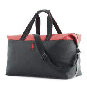 RALPH LAUREN POLO RED BLACK Weekender / Travel / SPORT  GYM / Duffle Bag NEW