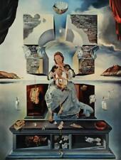 1961 Dali Madonna of Port Lligat Surrealist Floating Images Rhino Egg Wheat #S81