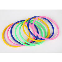 10x Colorful Hoopla Rings Toss Cast Circle Sets Educational Toys Puzzle Kids FB