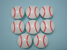 Set of 8 Boys Baseball Sports Dresser Drawer Knobs