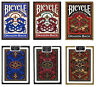 Set of 3 Decks Bicycle Dragon Back Standard Poker Playing Cards Red Blue & Gold