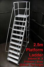 1 X 2.5m Order Picking Industrial Platform Ladder - 175 Kgs SWL