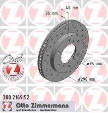 Disque de frein avant ZIMMERMANN PERCE 380.2169.52 MITSUBISHI PAJERO SPORT K90 2