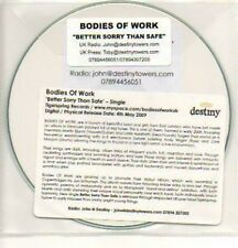 (400K) Bodies of Work, Better Sorry Than Safe - DJ CD