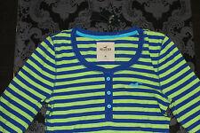 Hollister Damen Schlaftop Oberteil Blau Grün Größe M Neu mit Etikett