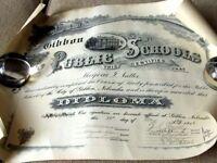 1916 Gibbon Nebraska NUTTER Family School Certificate-Diploma