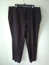 NWT Talbots Heritage Natural Waist Relaxed Fit Brown Career Pants Plus Size 20W