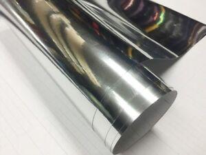 Película Cromo Adhesivo Cromado Plata Cromo Coche Envase Varios Tamaños Superior