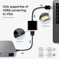 HDMI Male To VGA Female Cable Converter Adapter For PC HDTV Monitor DVD !.