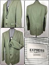 Express Photographer Slim Fit 44L Blazer Suit Jacket Olive Green Sport Coat