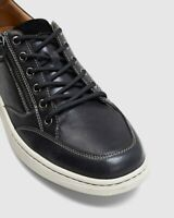 HUSH PUPPIES TRENT Mens Sneakers Zip Lace Up Trendy Leather Dressy Casual Shoes
