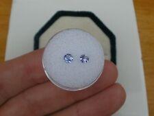 Tanzanite Round Loose Faceted Natural Gem Pair 4mm
