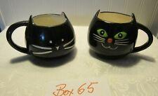 10 STRAWBERRY ST. AND TAG  Black Cat Coffee Milk Ceramic Mug Cups (65)