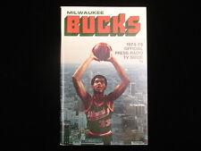 1974-75 Milwaukee Bucks Media Guide