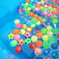10x Colorful 27mm Bouncy Jet Balls Kids Toy For Pinata Loot Party Bag Fillers 5t