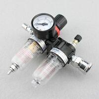 """Druck Luft Minderer Wartungseinheit 1/4"""" Wasserabscheider Öler Manometer Filter"""