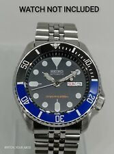 Black Blue Ceramic Bezel Insert for Seiko SKX 007 009 scratch resistant