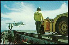 A3 Sky Warrior landing on USS Midway CV-41 postcard US Navy aircraft carrier