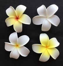 Hawaiian Foam PLUMERIA Flower Hair CLIP WHITE YELLOW Luau Wedding Party Bridal