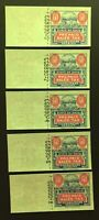 Ohio State Revenue Sales Tax Entires - 60 cents Reserve Litho - ERROR GROUP of 5