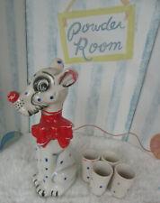 New listing Vintage Scotch Ceramic Dalmation Dog Decanter Japan With 4 Glasses