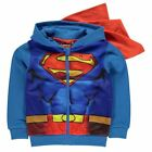 SUPERMAN gilet zippé sweat veste à capuche cape 2-3 / 3-4 / 4-5 / 5-6 / 7-8 ans