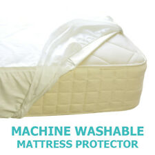 WATERPROOF MATTRESS PROTECTOR Single VINYL Bed Sheet Cover Wetting WASHABLE NEW