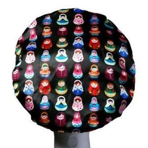 Babushka Print Luxury Shower Cap (Medium Size - perfect for kids/teens!)