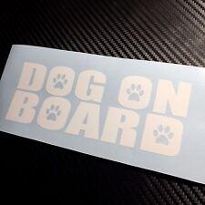 Chien blanc à bord autocollant decal Puppy Pet Fun VW JDM Drift CHIEN GUIDE D'AVEUGLE