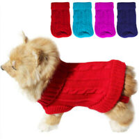 Small Pet Dog Puppy-Cat Warm Sweater Clothes Knit Coat Winter Apparel Costumes