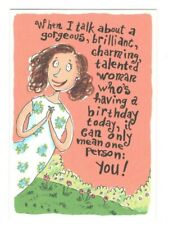 TALENTED WOMAN Comedy Club Birthday Greeting Card Envelope Humor Funny MG6