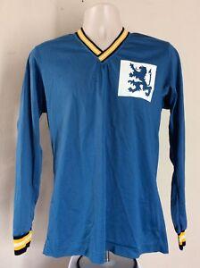 Vtg 70s Champion Brand Blue Bar Long Sleeve Mesh Jersey Blue M