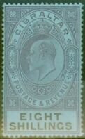 Gibraltar 1903 8s Dull Purple & Black-Blue SG54 Fine Mtd Mint (2)