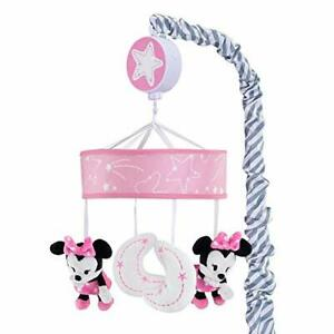 Lambs & Ivy Disney Baby Minnie Mouse Musical Crib Mobile Pink/Gray