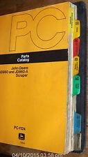 (2) John Deere Jd860 & Jd860-A Parts Catalog Pc-1124 & Tm-1014 Scraper Lot #76