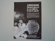 advertising Pubblicità 1973 JUNGHANS DATO-CHRON