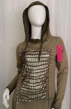 Strass Langarm Damenkleider aus Baumwolle