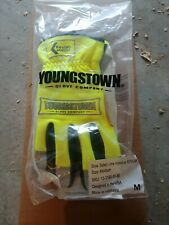 Youngstown Gloves Safety Lime Hybird w/Kevlar size medium