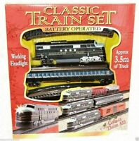 Classic Train Set Toy with 3.5m Tracks Light Engine Battery Operated
