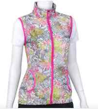 NWT EP Pro Mai Tai Pink Hawaiian Floral Sleeveless Athletic Vest Golf Women's L