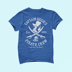 Disney Villains Captain Hook Pirate Crew Est 1953 Logo Shirt Cotton Unisex_1481