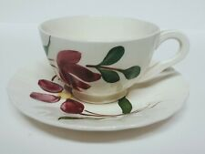 Southern Pottery Blue Ridge Hand Painted Flower Cup and Saucer Set
