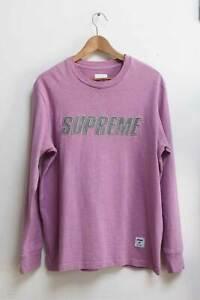 Supreme Mens Cotton Sweatshirt Top Size M Lilac