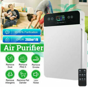 Air Purifier HEPA Filter PM2.5 Smoke Dust Germ Odor Cleaner Remote Control