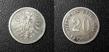Allemagne - Germany - Wilhelm I - 20 pfennig 1874 D, München