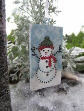 New ListingMiniature Dollhouse Fairy Garden Hanging Christmas Snowman Sign - Buy 3 Save $5