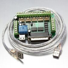 5 Axis CNC Upgraded Breakout Board for Stepper Motor Driver Mach3 W/ Cable US