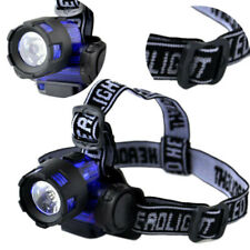 AAA batería LED faro faro linterna al aire libre brillante cabeza lámpara de luz