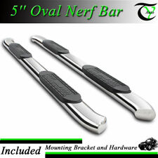 """For 2009-2017 Dodge Ram 1500 Crew Cab 5"""" S.S Curved Pair Set Nerf Bar Side Step"""