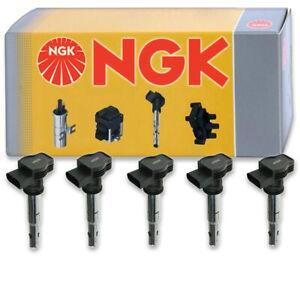 5 pcs NGK Ignition Coil for 2012-2014 Volkswagen Passat 2.5L L5 - Spark Plug gm